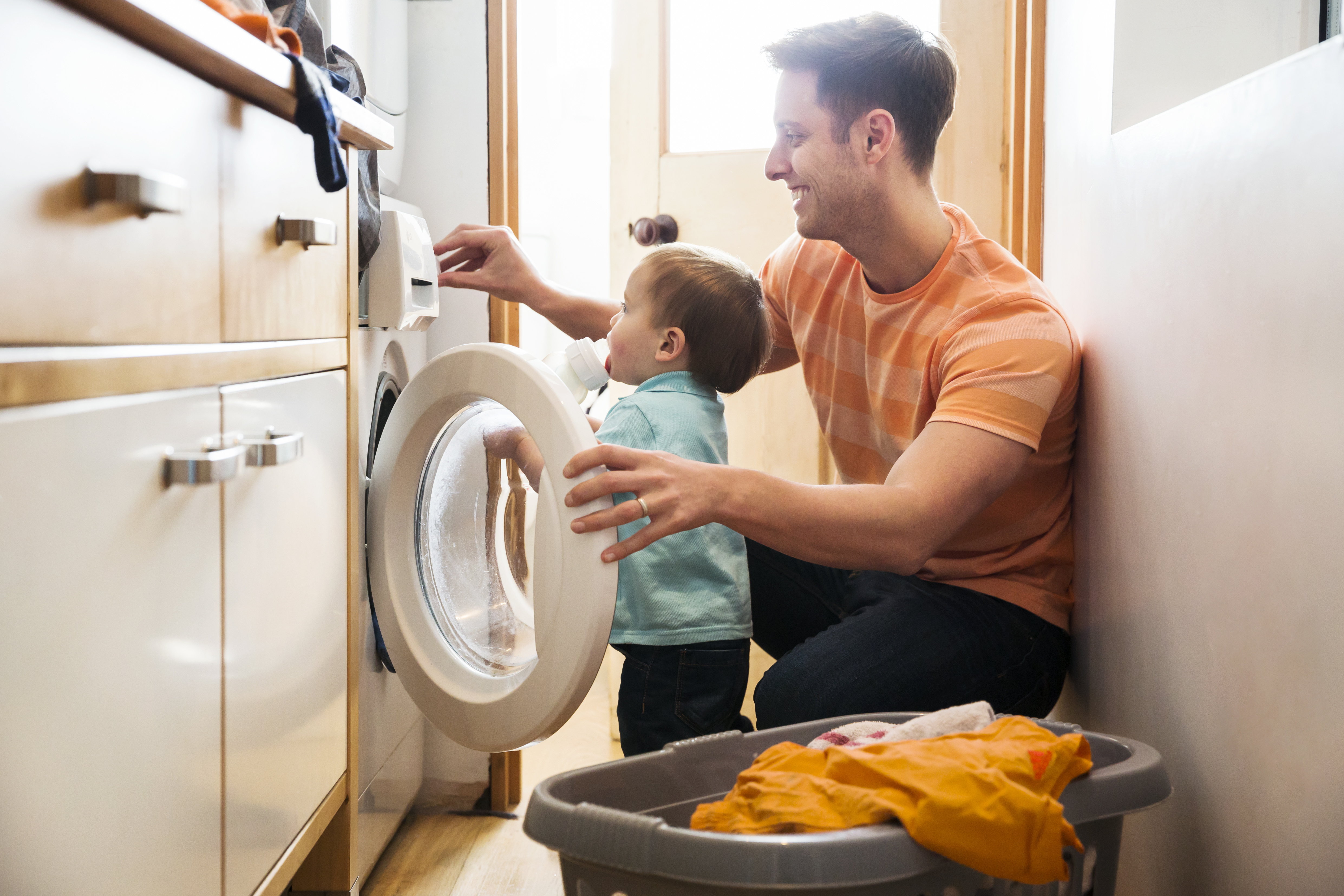Header image of Tip #3: Set a schedule for your laundry.